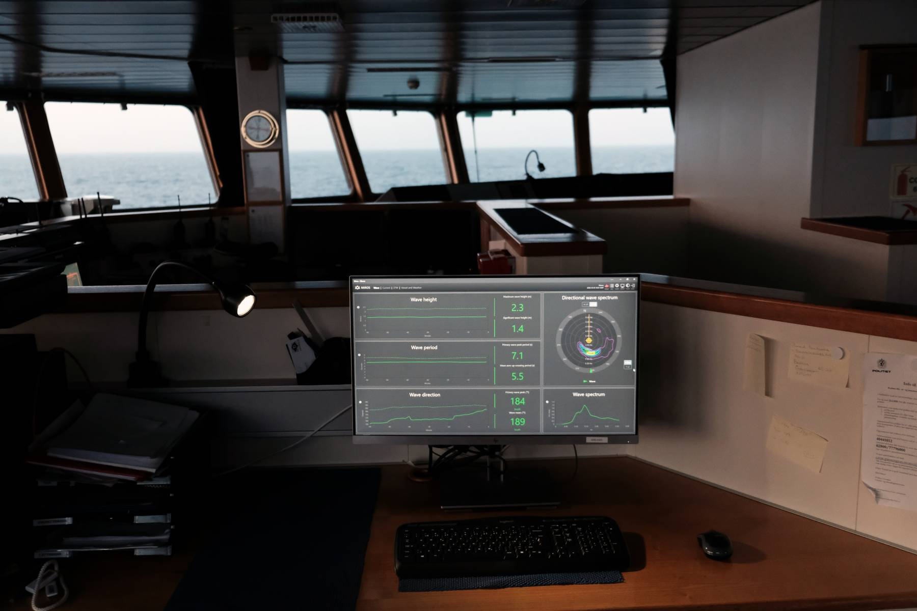 Wavex GUI on board Norwegian Institute of Marine Research vessel, G.O. Sars